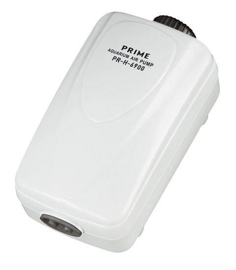Компрессор Prime Pr-h-6900 двухканальный регулируемый, 2,5 Вт, 2 х 2 л/мин, для аквариумов глубиной до 80 см, бесшумный (1 шт)