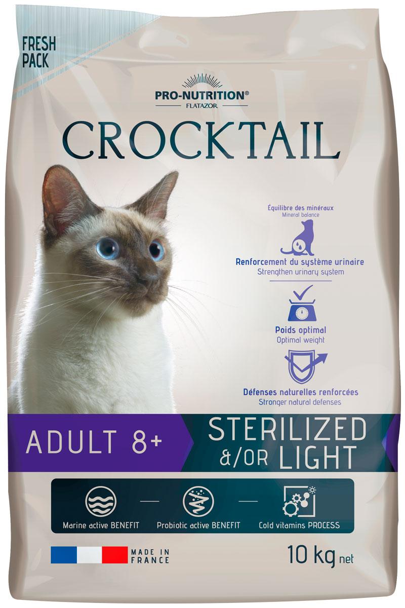 Flatazor Crocktail Adult 8+ Sterilised/light диетический для пожилых кастрированных котов и стерилизованных кошек (2 кг)