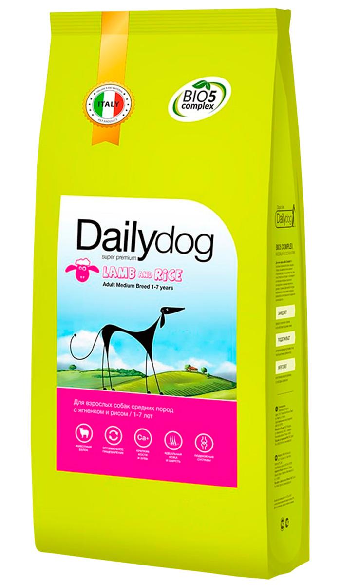 Dailydog Adult Medium Breed Lamb & Rice монобелковый для взрослых собак средних пород с ягненком и рисом (20 + 20 кг)