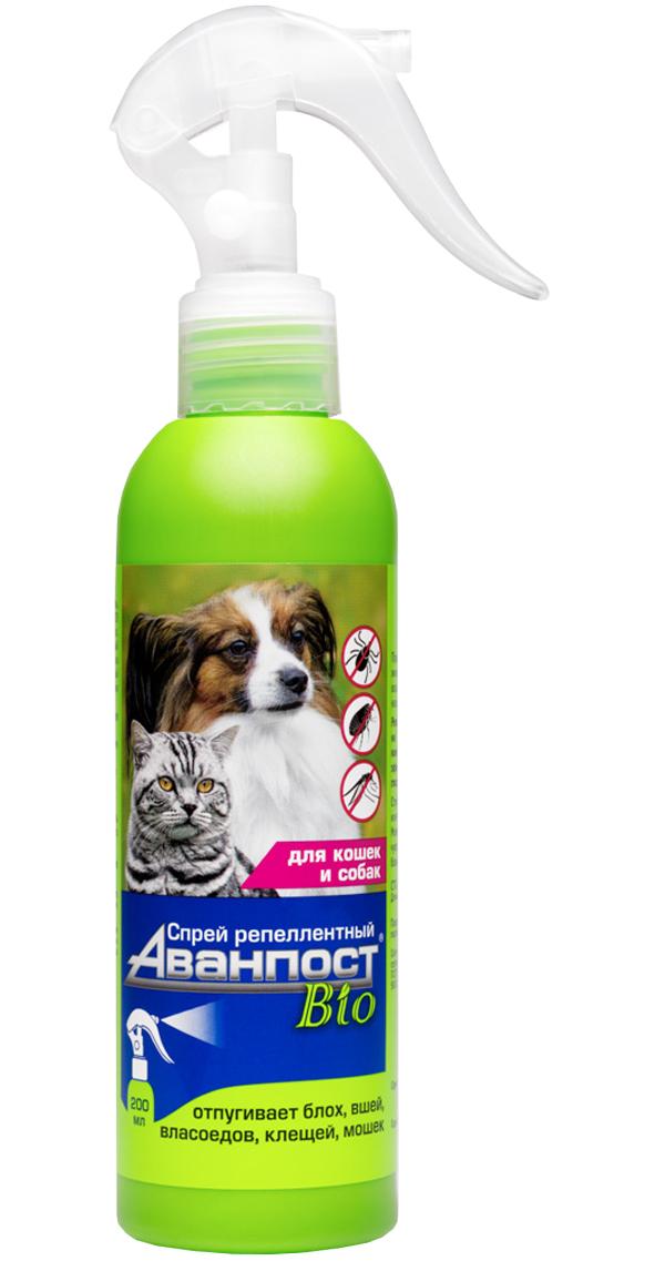 аванпост Bio спрей репеллентный для собак и кошек против блох и клещей Veda (200 мл).