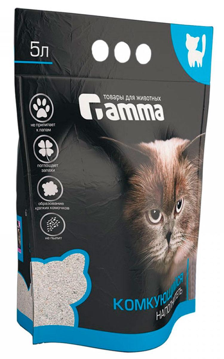 Фото - Gamma наполнитель комкующийся для туалета кошек (5 л) комкующийся наполнитель