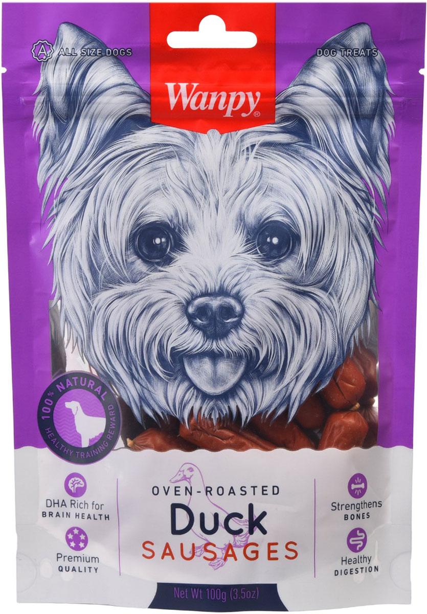 Лакомство Wanpy Dog для собак сосиски утиные (100 гр)