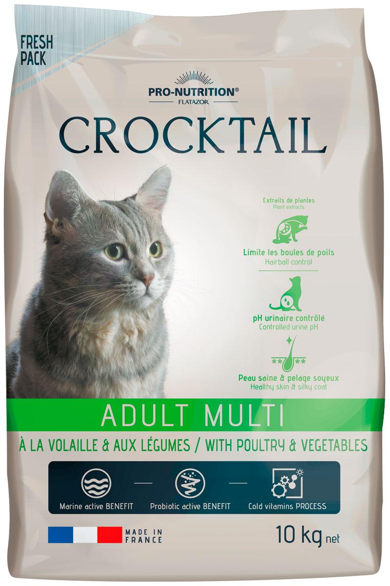 Flatazor Crocktail Adult Multi для взрослых кошек с птицей и овощами (10 кг)