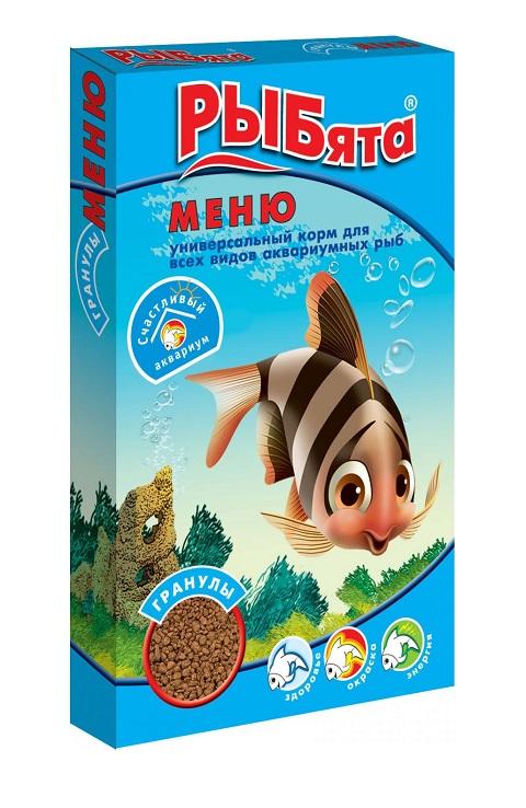 Корм-гранулы для всех видов рыб Зоомир РЫБята меню (30 гр)