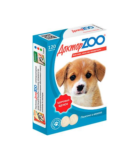 доктор Zoo здоровый щенок мультивитаминное лакомство для щенков с кальцием (120 таблеток)