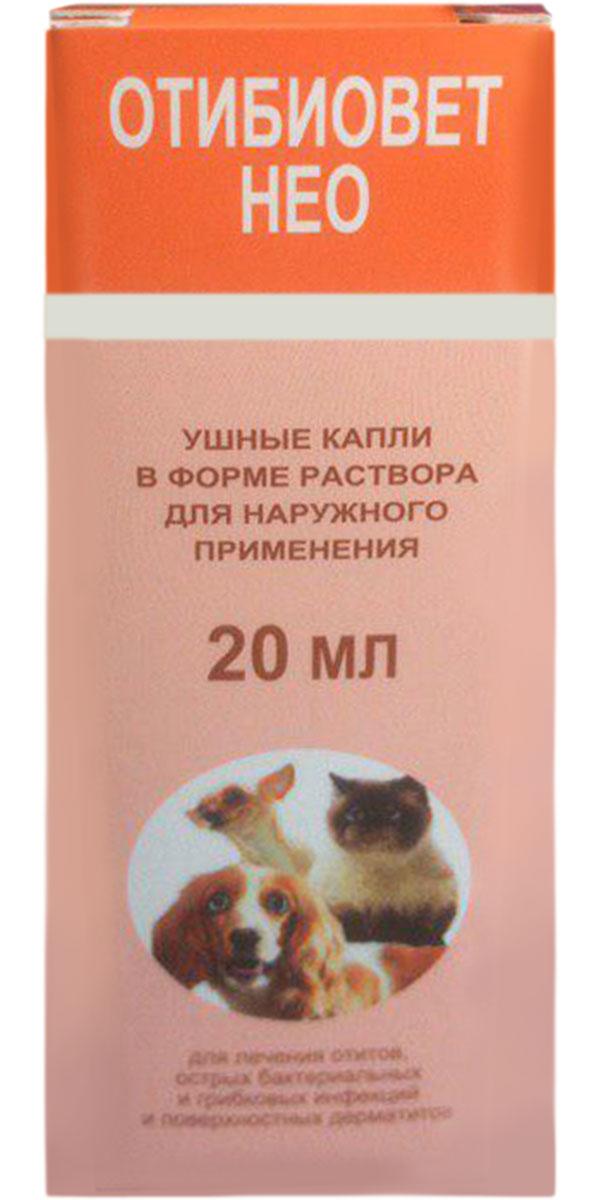 Отибиовет нео капли ушные для собак и кошек для лечения отитов, острых бактериальных и грибковых инфекций, поверхностных дерматитов 20 мл (1 шт) фото