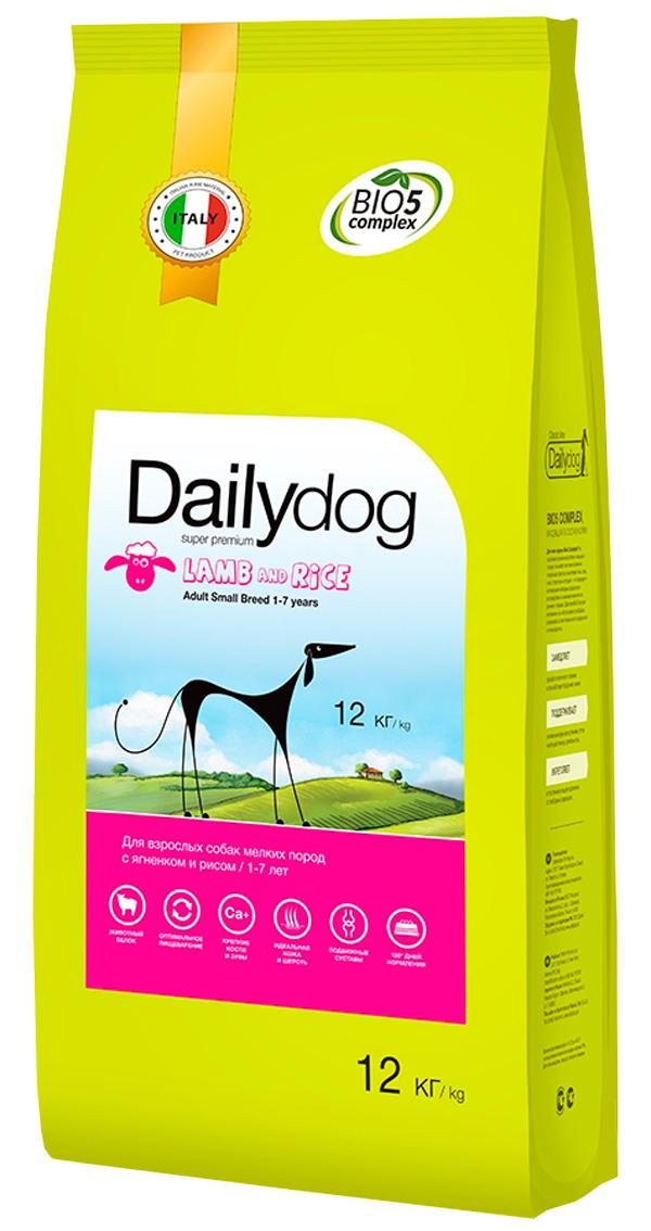 Dailydog Adult Small Breed Lamb & Rice монобелковый для взрослых собак маленьких пород с ягненком и рисом (3 кг)