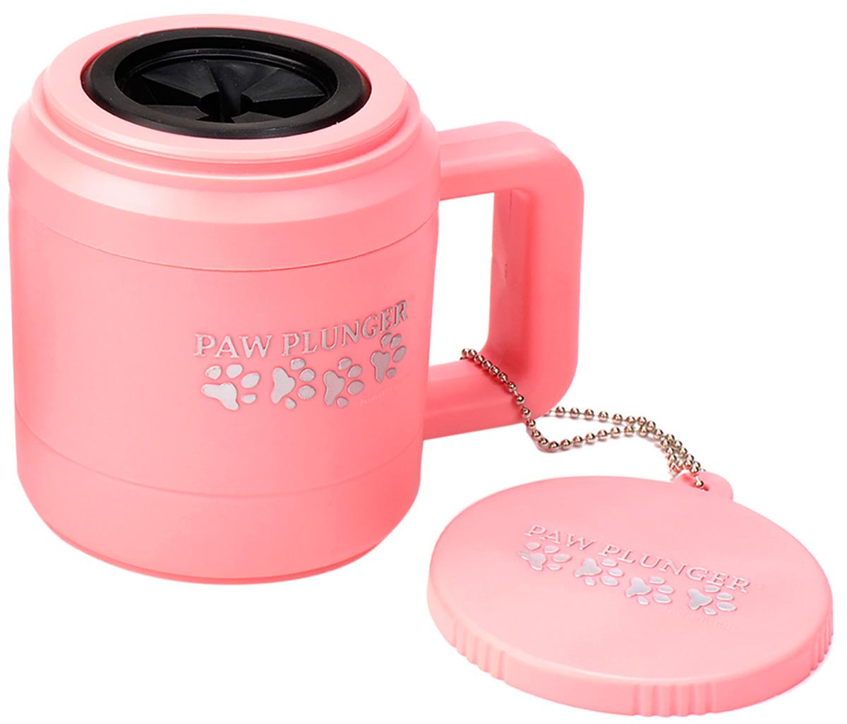 Лапомойка малая розовая Paw Plunger (1 шт)