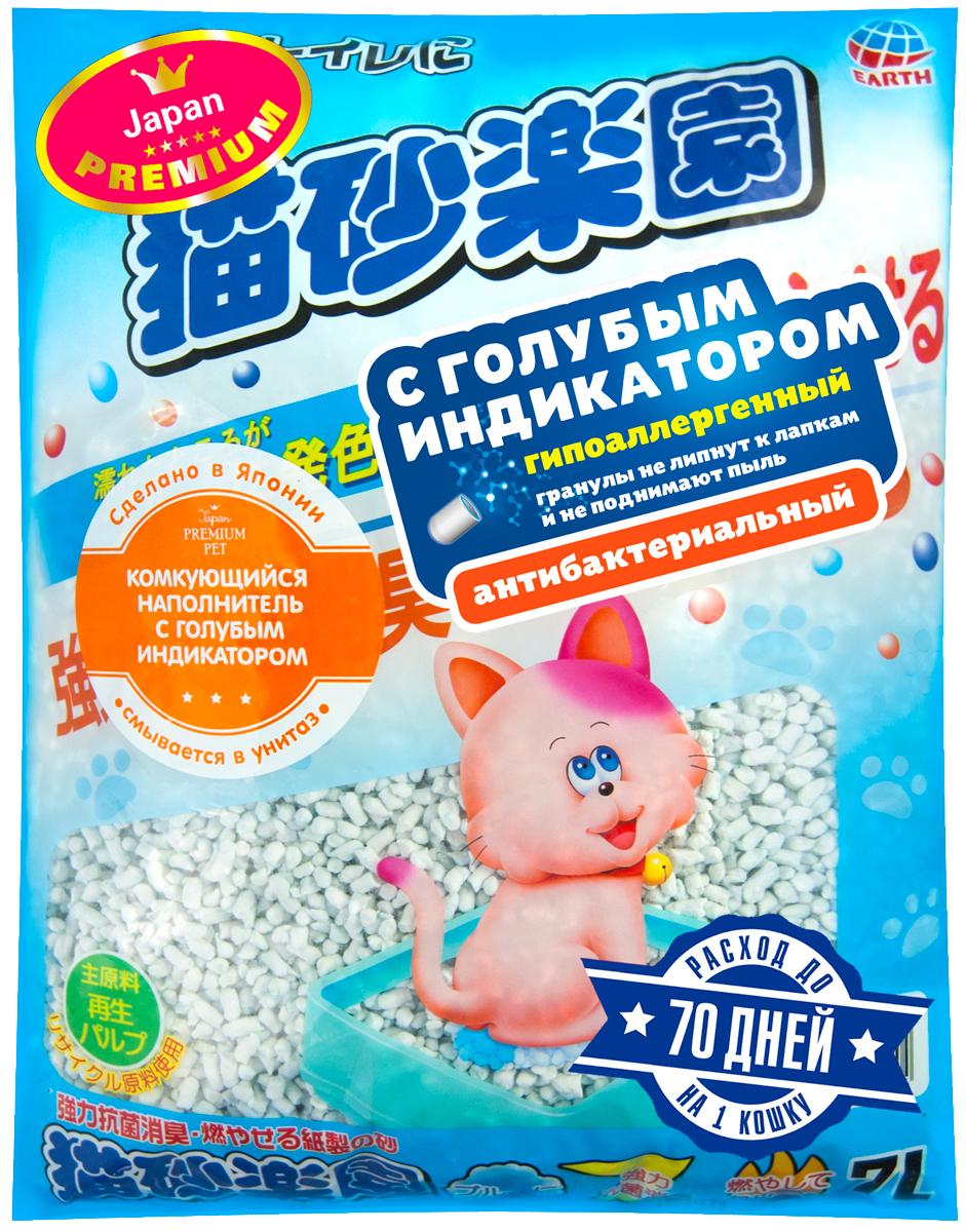 Наполнитель комкующийся Premium Pet Japan целлюлозно-полимерный с голубым индикатором для туалета кошек (7 л)