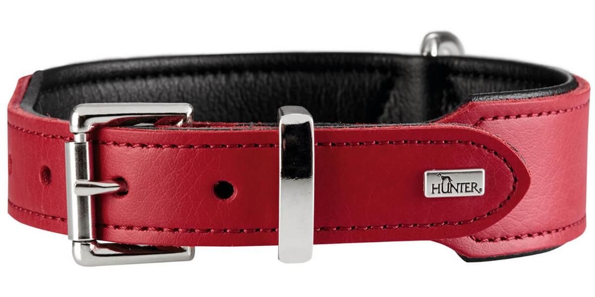 Ошейник для собак Hunter Basic 65 кожа красный/черный 39 мм 51 – 58,5 см (1 шт) hunter smart hunter ошейник для собак swiss 65 51 58 5 см кожа красный черный