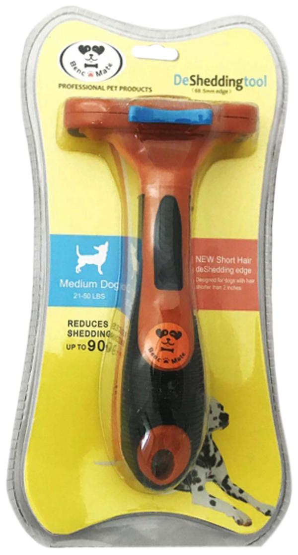 Расческа-триммер PerseiLine для короткошерстных собак с очистителем M 6,5 см (1 шт)
