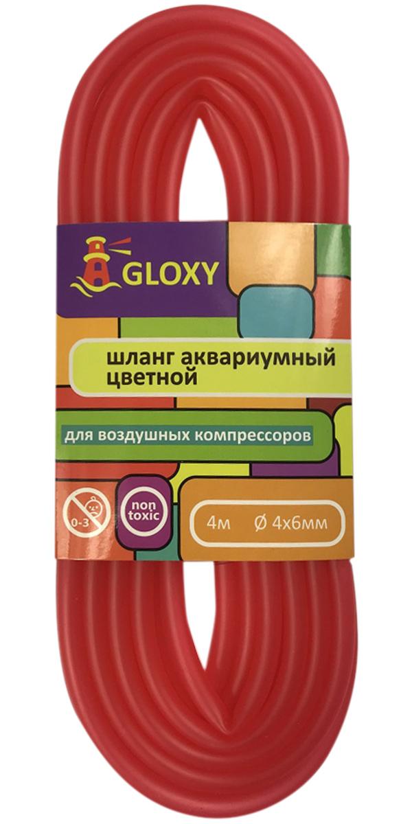 цена на Шланг для подачи воздуха в аквариум красный 4/6 мм х 4 м Gloxy (1 шт)