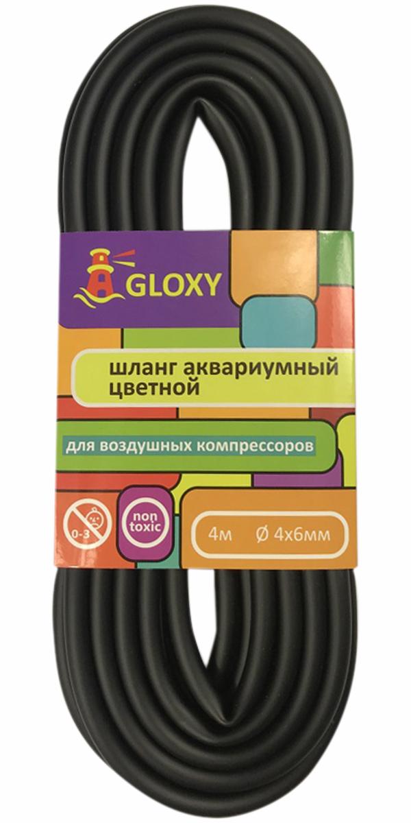 цена на Шланг для подачи воздуха в аквариум черный 4/6 мм х 4 м Gloxy (1 шт)