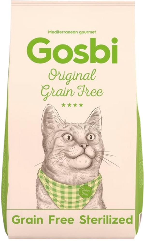 Gosbi Original Cat Sterilized Grain Free беззерновой для кастрированных котов и стерилизованных кошек с курицей (7 кг)
