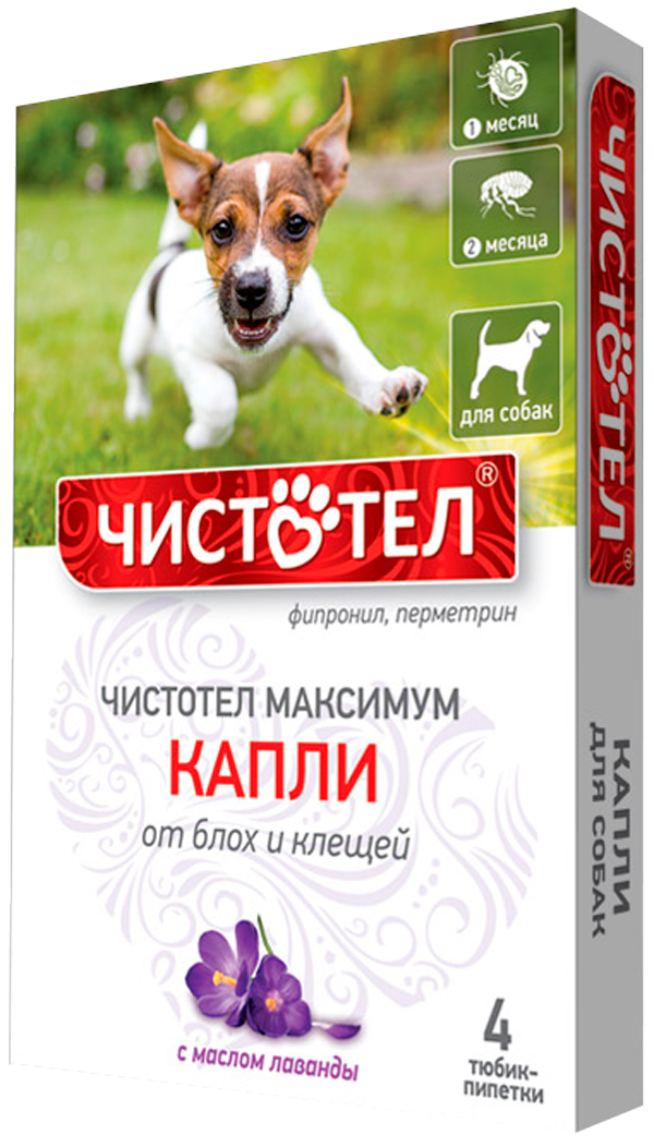 чистотел максимум капли для собак против блох и клещей (уп. 4 пипетки) (1 шт)