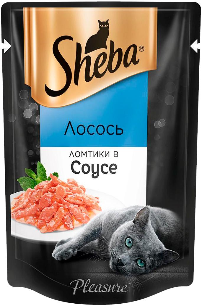 Sheba Pleasure для взрослых кошек ломтики в соусе с лососем 85 гр (85 гр) sheba pleasure для взрослых кошек ломтики в соусе с курицей и кроликом 85 гр 85 гр
