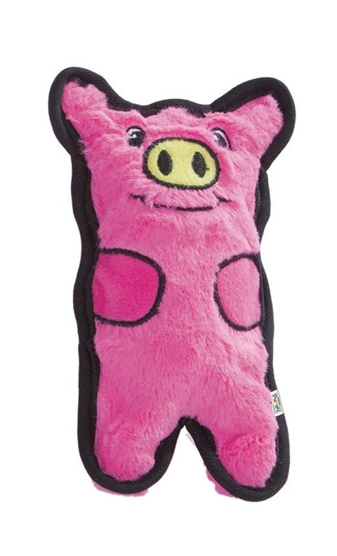 Petstages игрушка для собак Oh Invinc Mini Свинка без наполнителя с пищалками 12 см (1 шт)