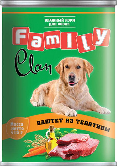 Clan Family для взрослых собак паштет с телятиной 415 гр (415 гр)
