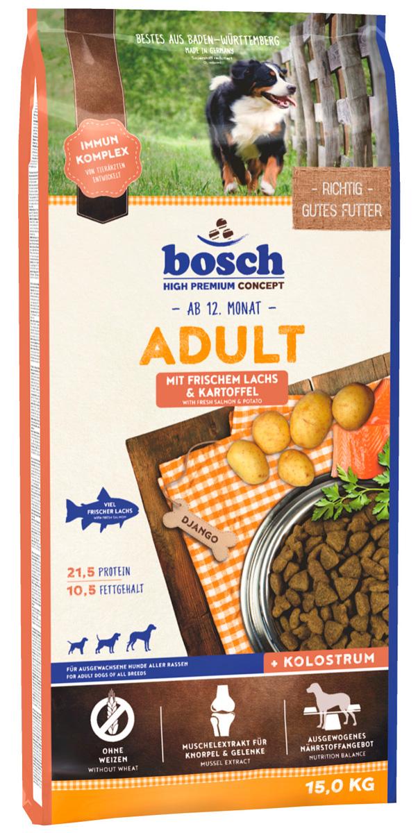 Bosch Adult Lachs & Kartoffel для взрослых собак всех пород с лососем и картофелем (3 кг) фото