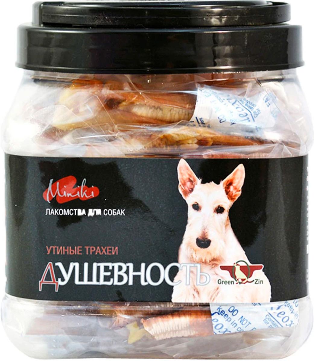 Лакомство Green Qzin Miniki Душевность для собак маленьких пород утиные трахеи сушеные 200 гр (1 шт)