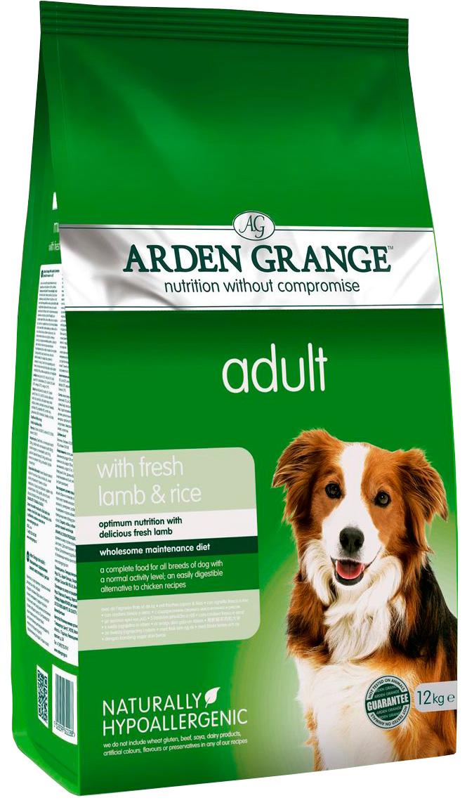 Arden Grange Adult Lamb & Rice для взрослых собак всех пород с ягненком и рисом (6 кг)