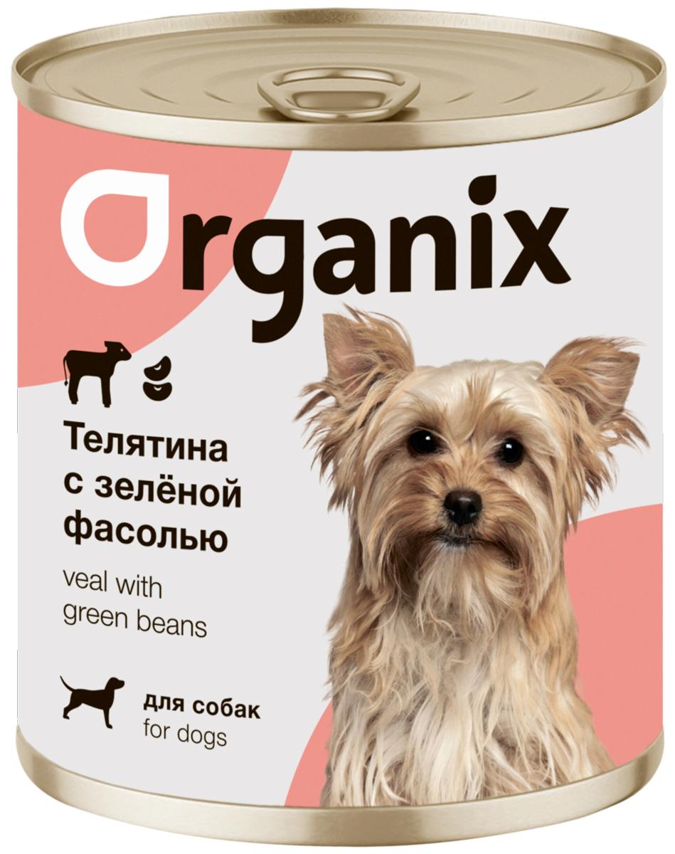 Organix для взрослых собак с телятиной и зеленой фасолью (100 гр) happy cat для взрослых кошек с ягненком телятиной и зеленой фасолью в желе 100 гр 100 гр