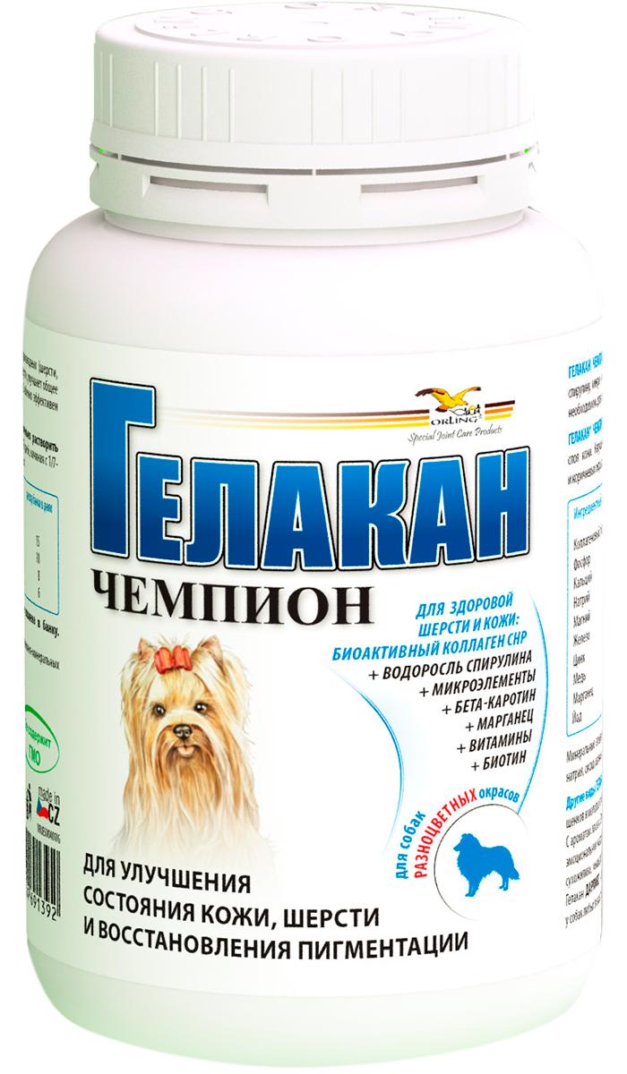 Картинка - гелакан чемпион белково-витаминно-минеральный комплекс для собак разноцветных окрасов 150 гр (1 шт)