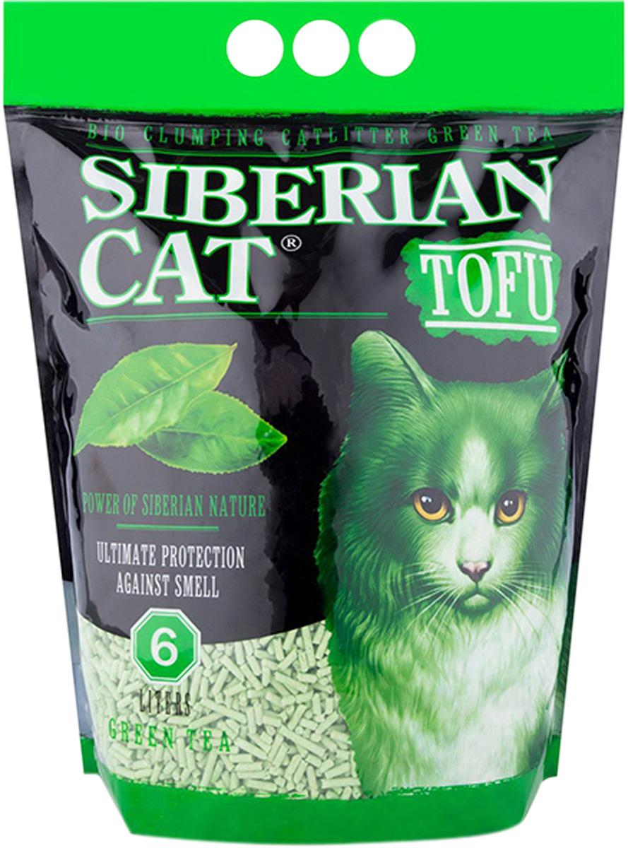 сибирская кошка тофу наполнитель комкующийся для туалета кошек с ароматом зеленого чая (6 л) for cats наполнитель силикагелевый для туалета кошек с ароматом зеленого чая 8 л