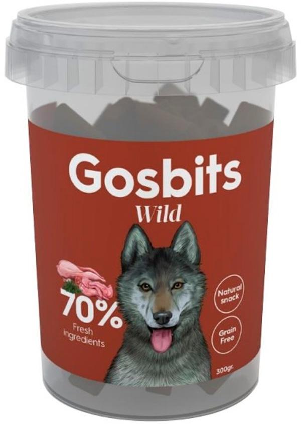 Фото - Лакомство Gosbits Wild для собак с перепелкой и кроликом 300 гр (1 уп) gosbi лакомство gosbits для взрослых собак с курицей 300 г