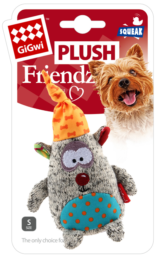 Игрушка для собак GiGwi Plush Friendz Медведь с пищалкой 10 см (1 шт)