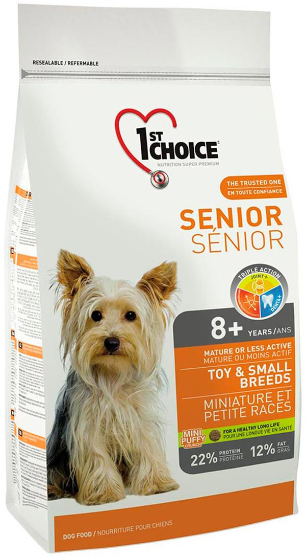1st Choice Dog Senior 8+ Toy & Small Breeds для пожилых собак маленьких пород старше 8 лет с курицей (2,72 кг)