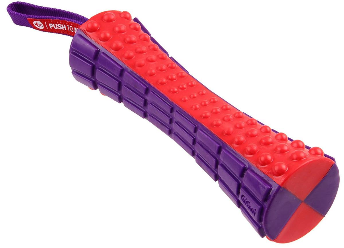 Игрушка для собак GiGwi Push To Mute Палка с отключаемой пищалкой 17 см (1 шт)