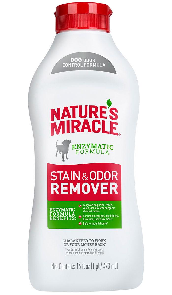 8 in 1 Nature's Miracle Stain & Odor Remover универсальный уничтожитель пятен и запахов для собак 473 мл (1 шт) спрей nature s miracle уничтожитель пятен и запахов no more marking против повторных меток 709 мл