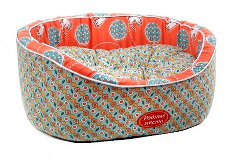 Лежак для кошек Премиум № 2 Персиковый кот 49 х 43 х 17 см Родные Места (1 шт) фото