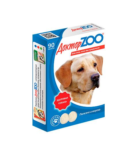 доктор Zoo здоровая собака мультивитаминное лакомство для собак с морскими водорослями (90 таблеток)