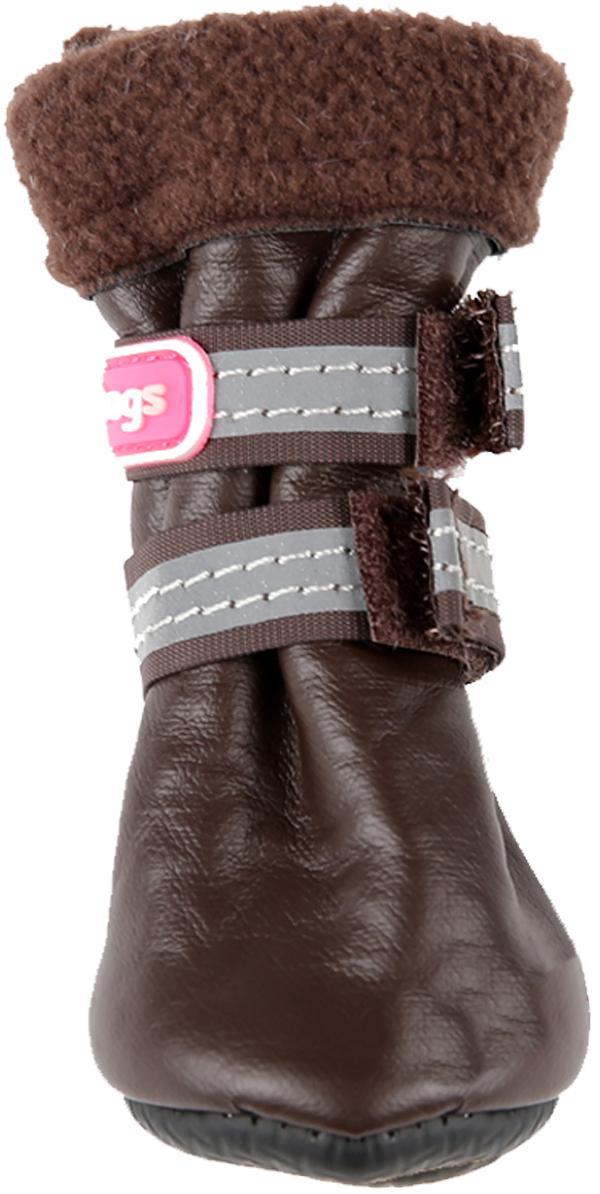 For My Dogs сапоги для собак зимние коричневые Fmd631-2018 Br (4)