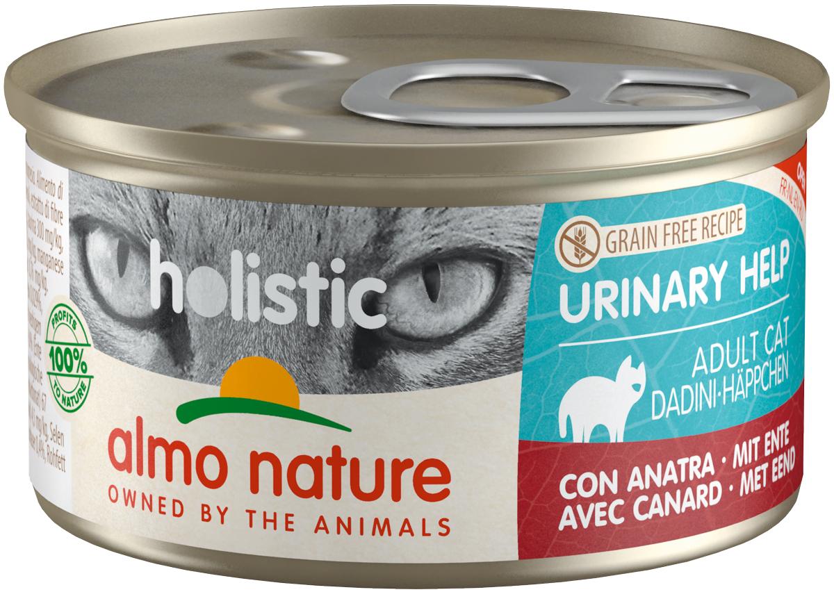 Almo Nature Cat Holistic Urinary Help беззерновые для взрослых кошек при мочекаменной болезни с уткой 85 гр (85 гр)