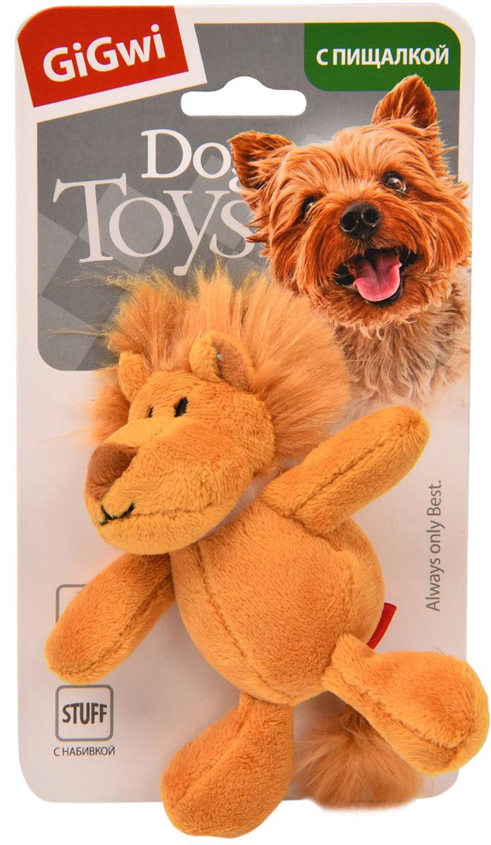 Игрушка для собак GiGwi Лев с пищалкой 10 см (1 шт)