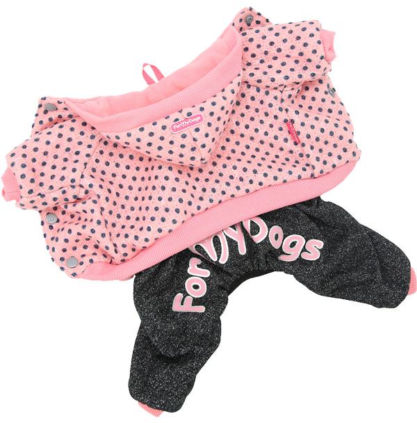 For My Dogs костюм для собак утепленный розовый Fw821-2019 (10Chh)