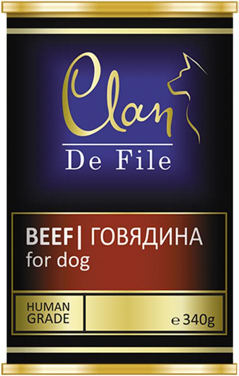 Clan De File монобелковые для взрослых собак с говядиной (340 гр х 12 шт)