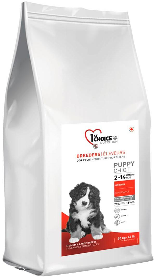 1st Choice Breeders Puppy Medium & Large Breeds для щенков средних и крупных пород с курицей (20 кг)