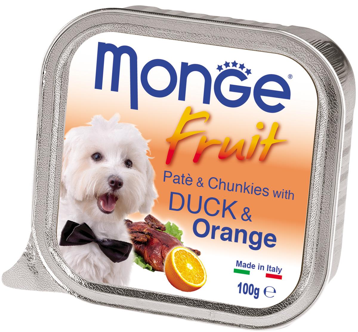Monge Fruit Dog для взрослых собак паштет с уткой и апельсином (100 гр х 32 шт)