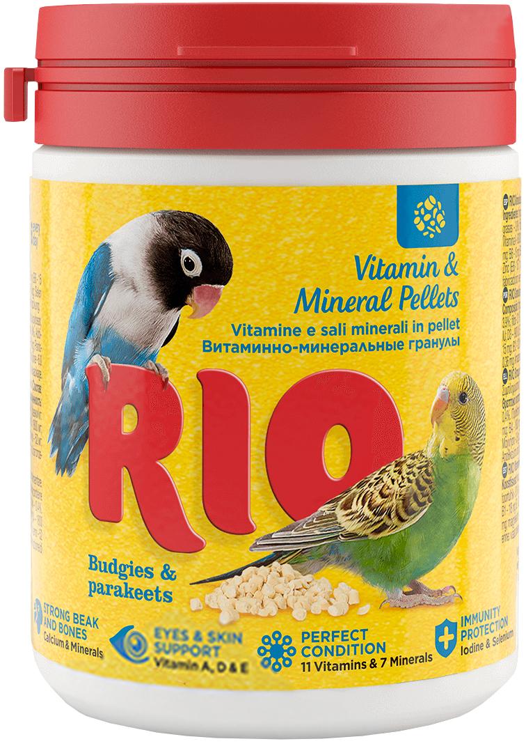 Rio витаминно-минеральные гранулы для волнистых и средних попугаев 120 гр (1 шт) фото