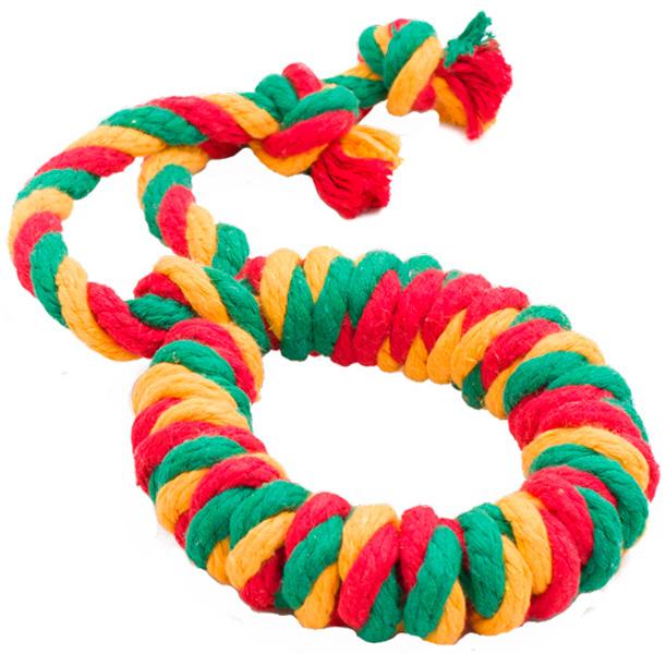 Игрушка для собак Doglike Dental Knot Кольцо канатное цветное большое (1 шт)