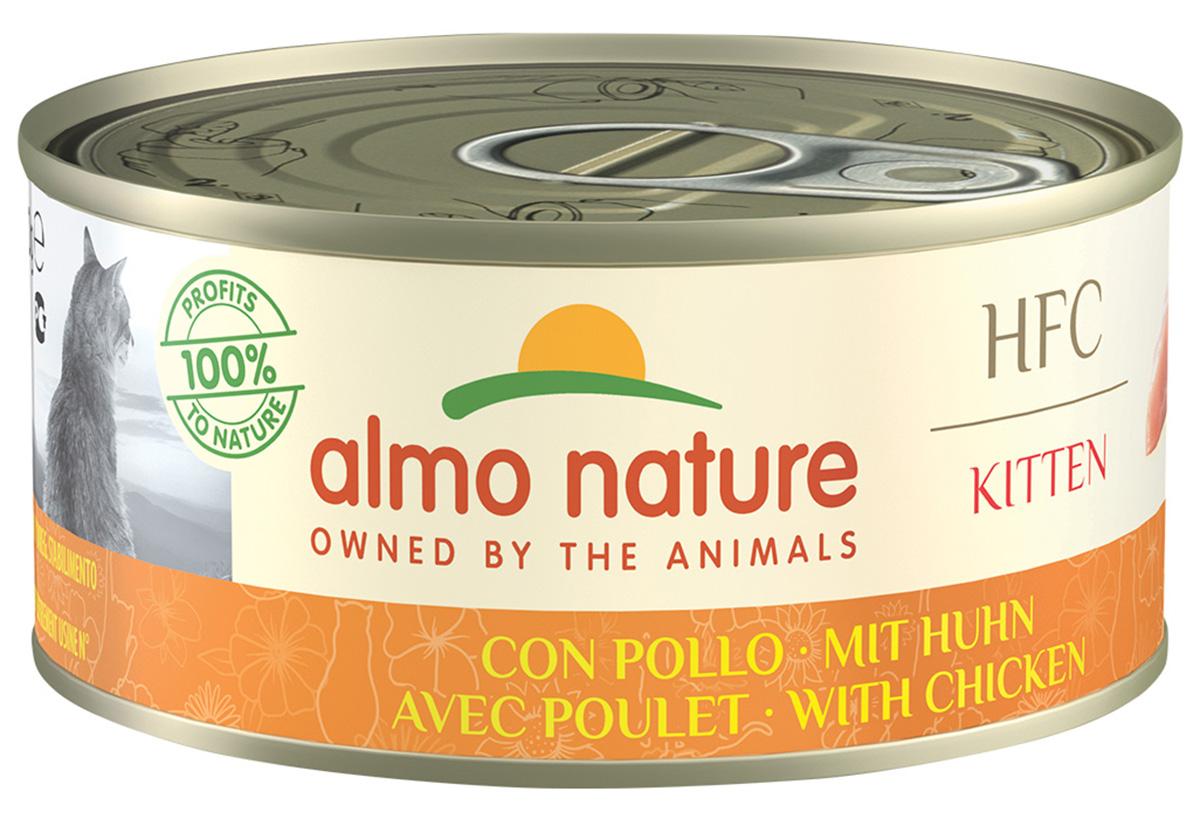 Almo Nature Cat Hfc Jelly беззерновые для взрослых кошек с курицей в желе (150 гр х 24 шт).