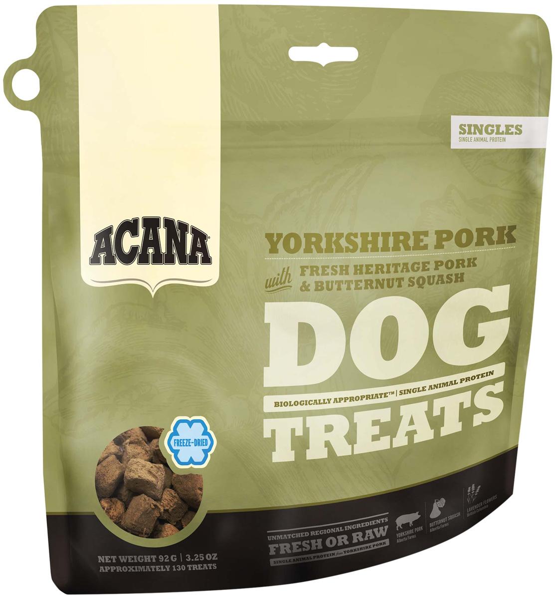 Лакомство Acana Singles Yorkshire Pork сублимированное для собак со свининой (92 гр)