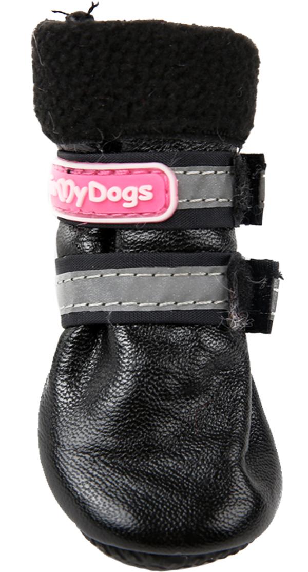 For My Dogs сапоги для собак зимние черные Fmd645-2019 Bl (1)