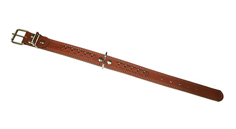 Ошейник для собак кожаный коньячный 46 - 60 см x 35 мм Аркон (1 шт)