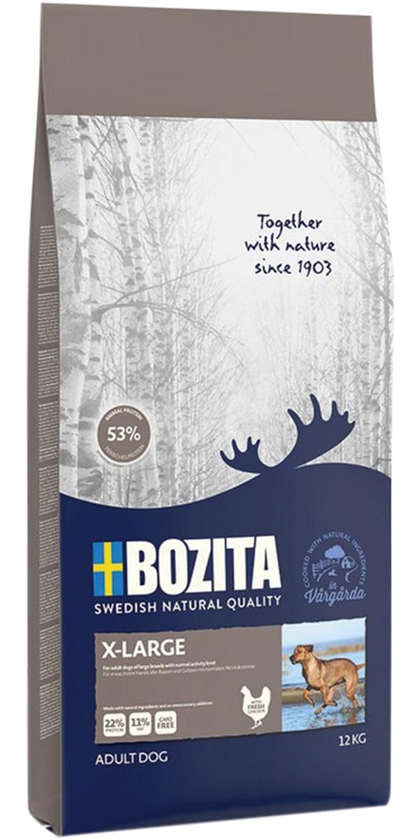 Bozita X-large для взрослых собак крупных пород с нормальной активностью с курицей (12 кг)