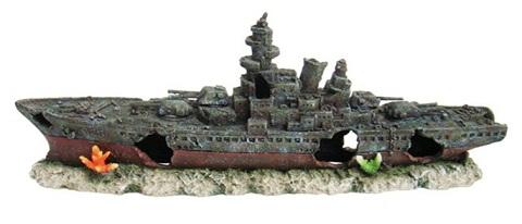 Декор грот для аквариума Корабль, 50 х 11,5 х 19,5 см, Barbus, Decor 049 (1 шт)
